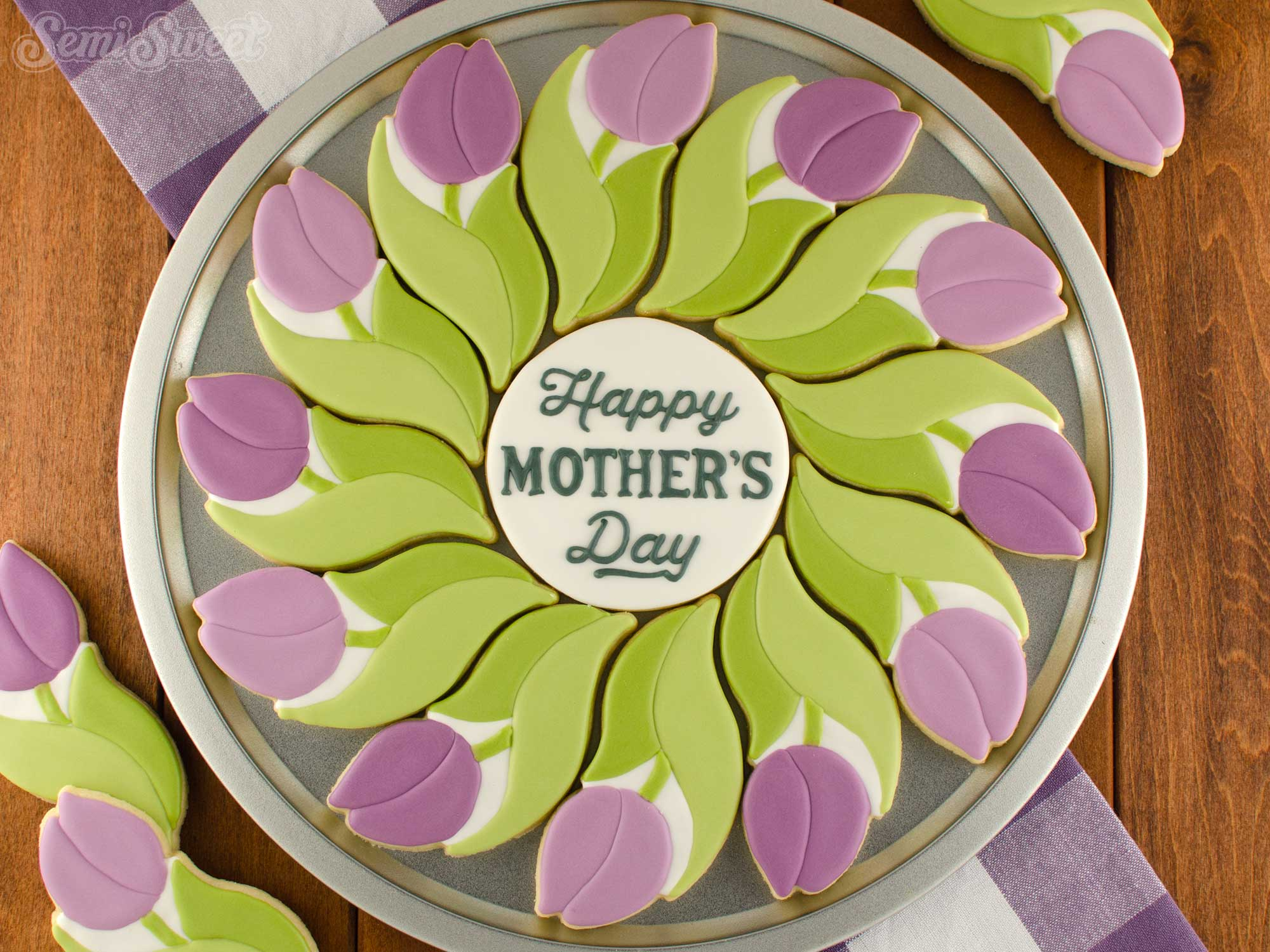 How to Make a Tulip Cookie Platter