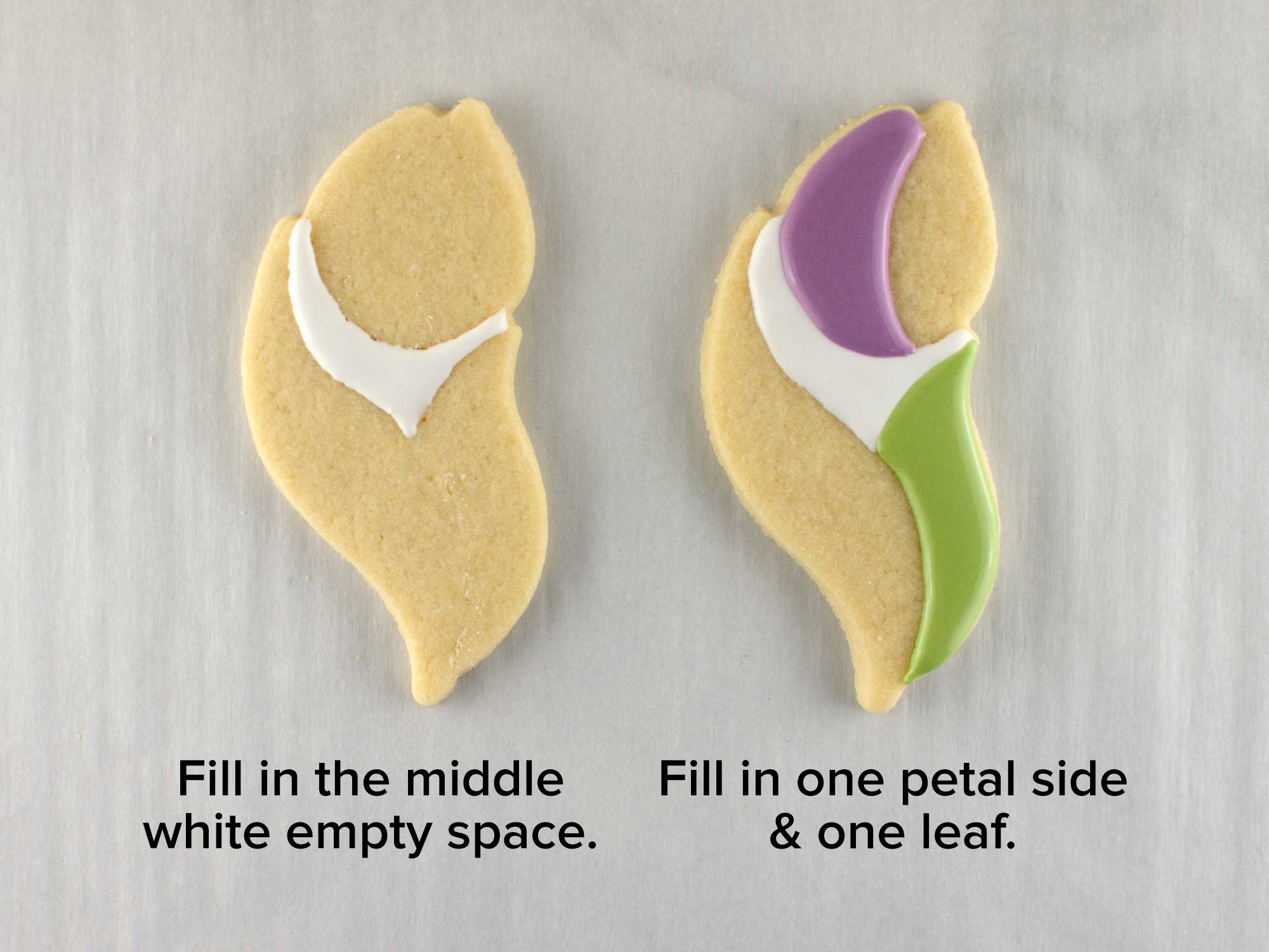 tulip cookie platter step 2
