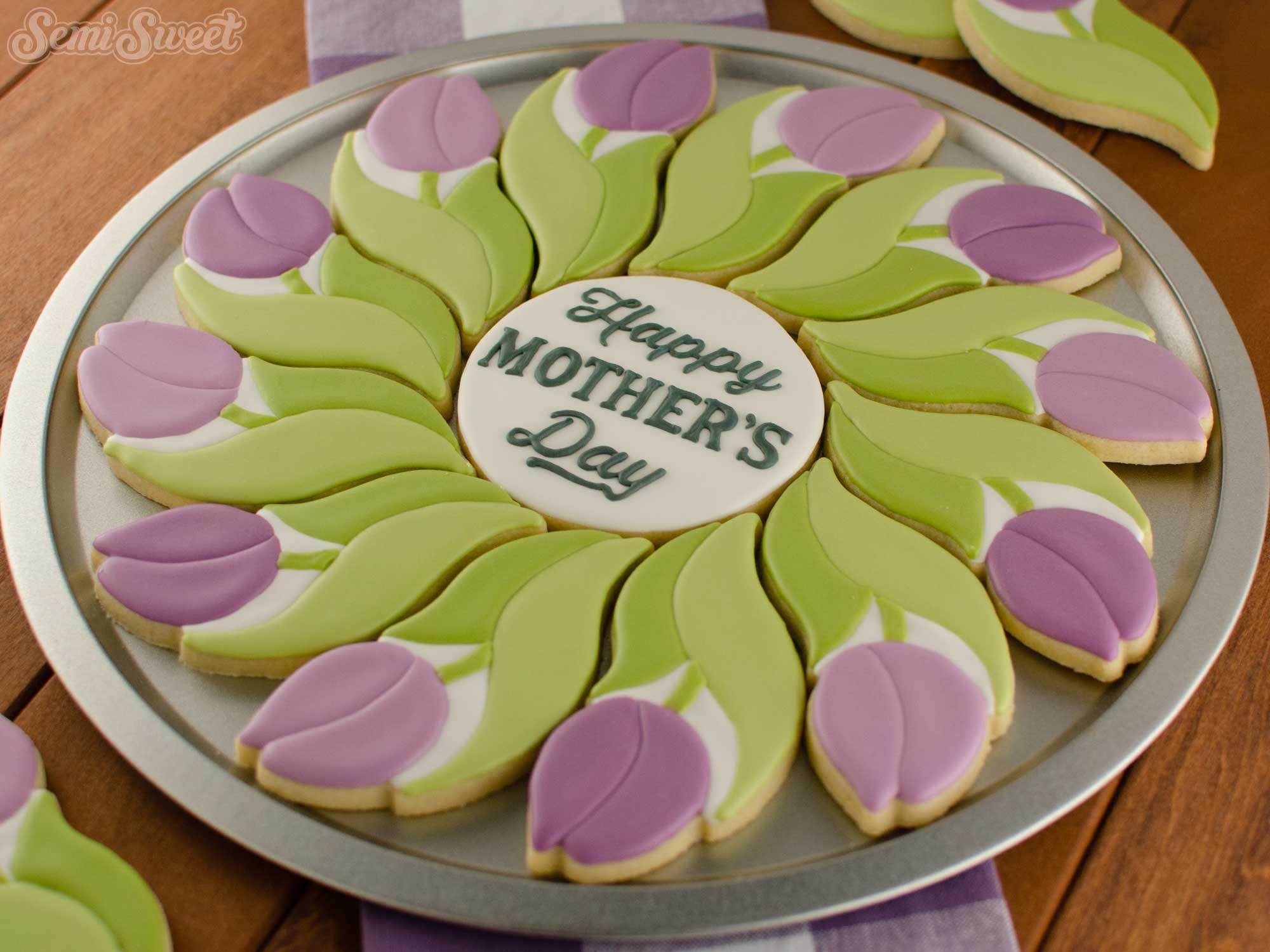 Tulip Cookie Platter | Semi Sweet Designs