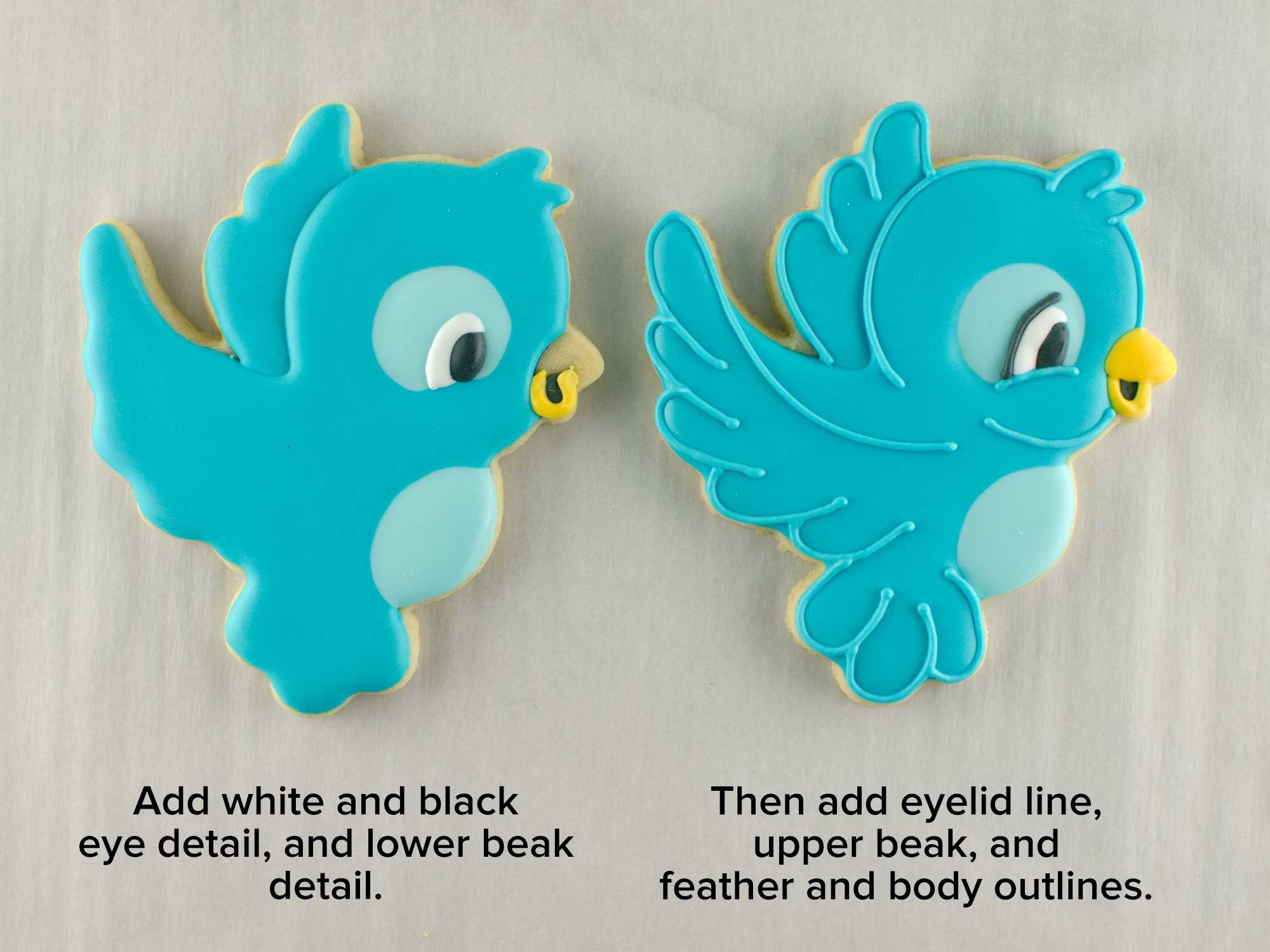 flying bird cookies step 2