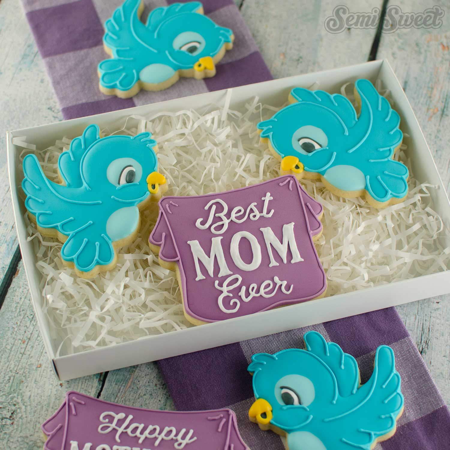 flying birds cookies for Mother's Day | Semi Sweet Designs