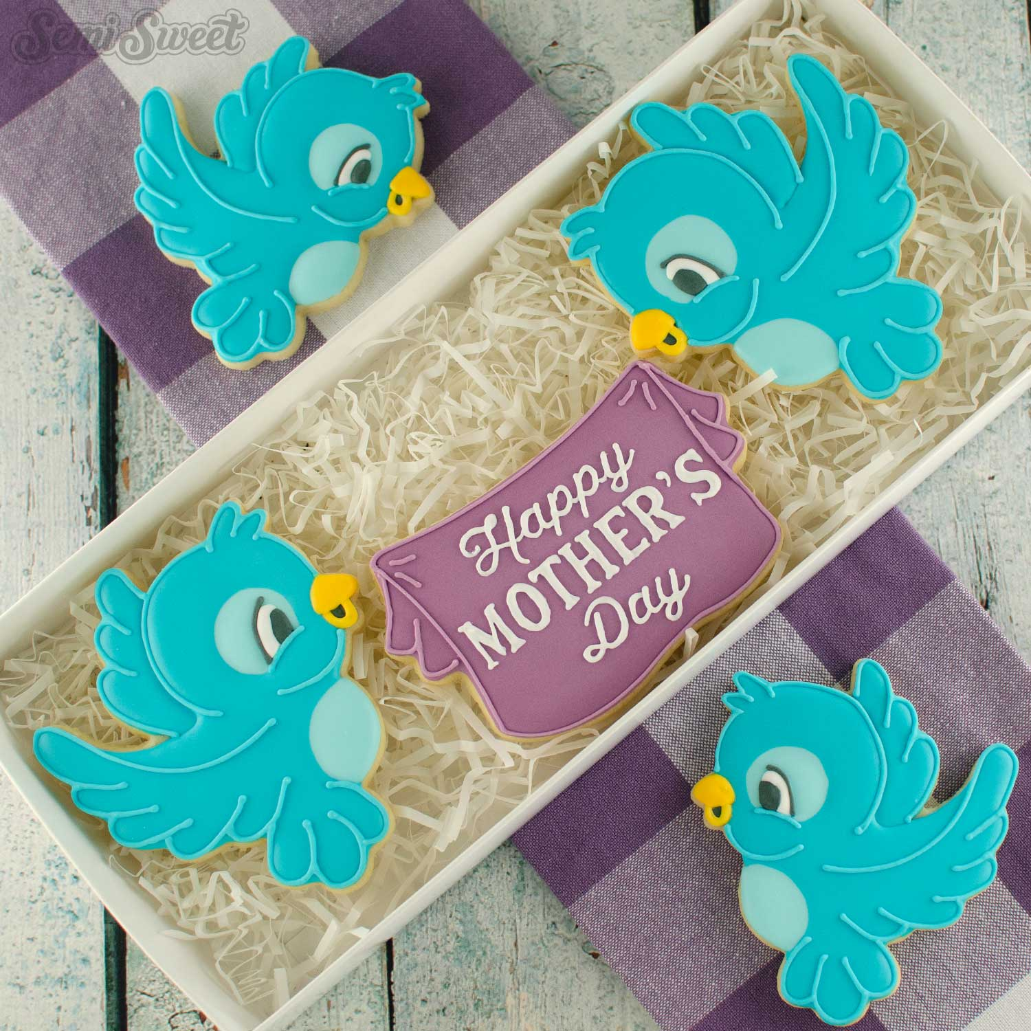 flying bird cookies for Mother's Day | Semi Sweet Designs