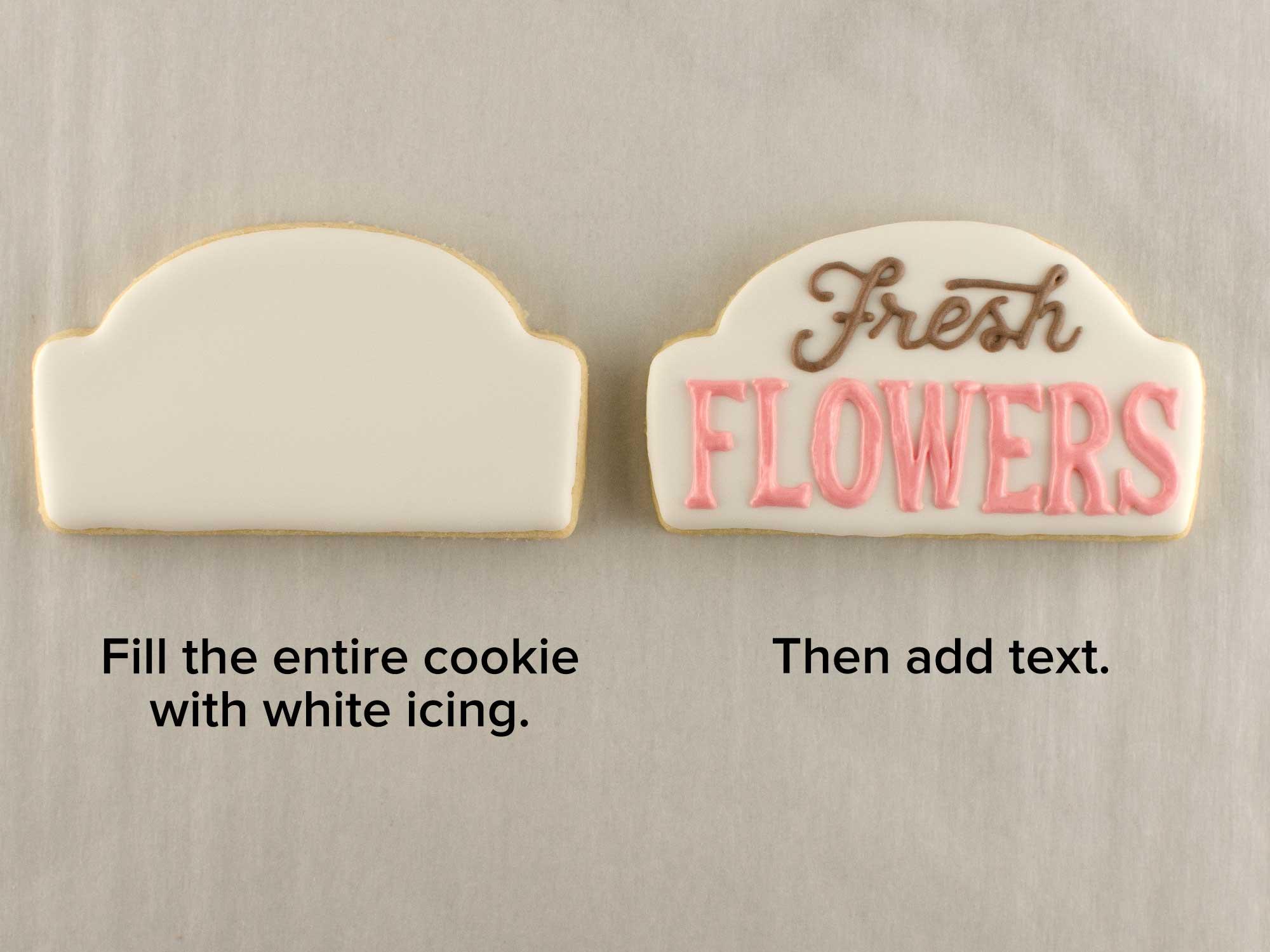 flower cart cookie set step 1