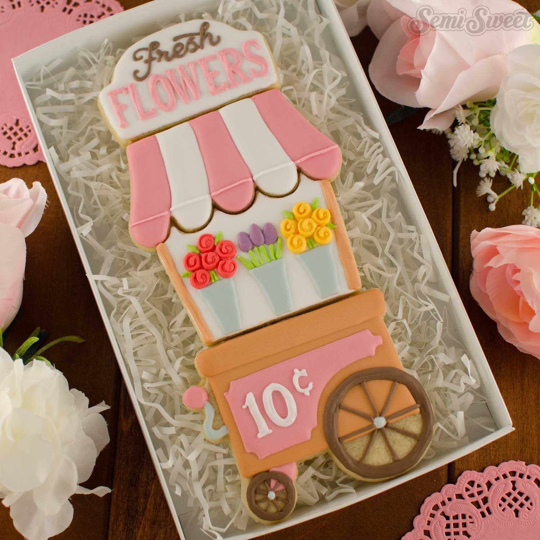 Flower Cart Cookie Set | Semi Sweet Designs