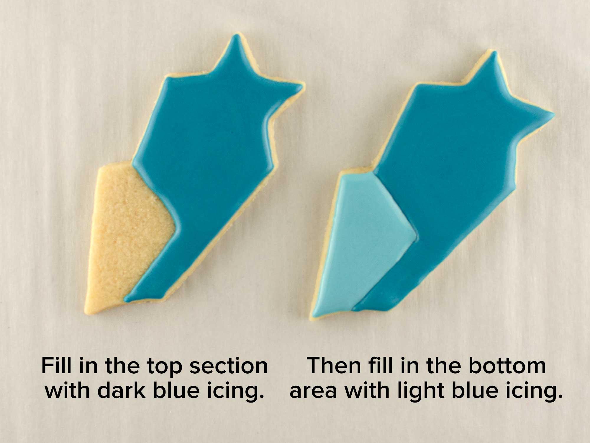 shooting stars cookie platter step 1