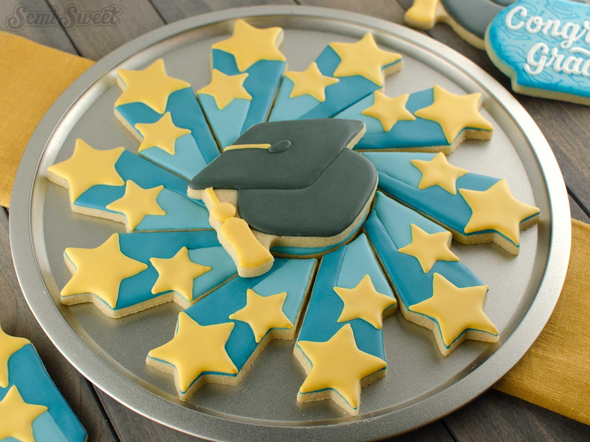 Shooting Stars Cookie Platter | Semi Sweet Designs