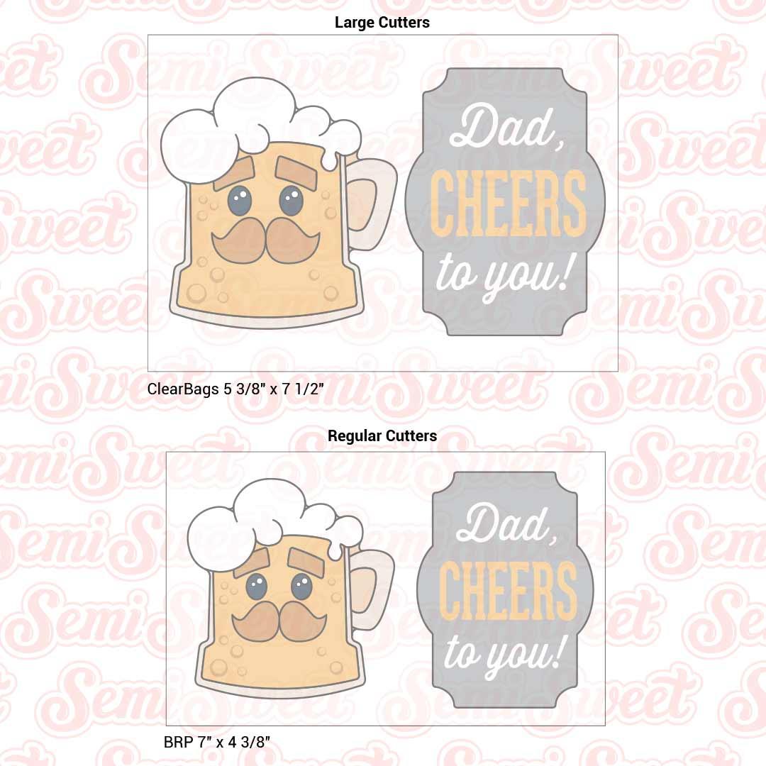 dad beer cookie cutters | Semi Sweet Designs