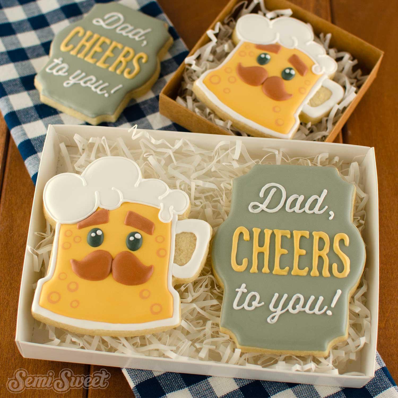 dad beer cookies | Semi Sweet Designs