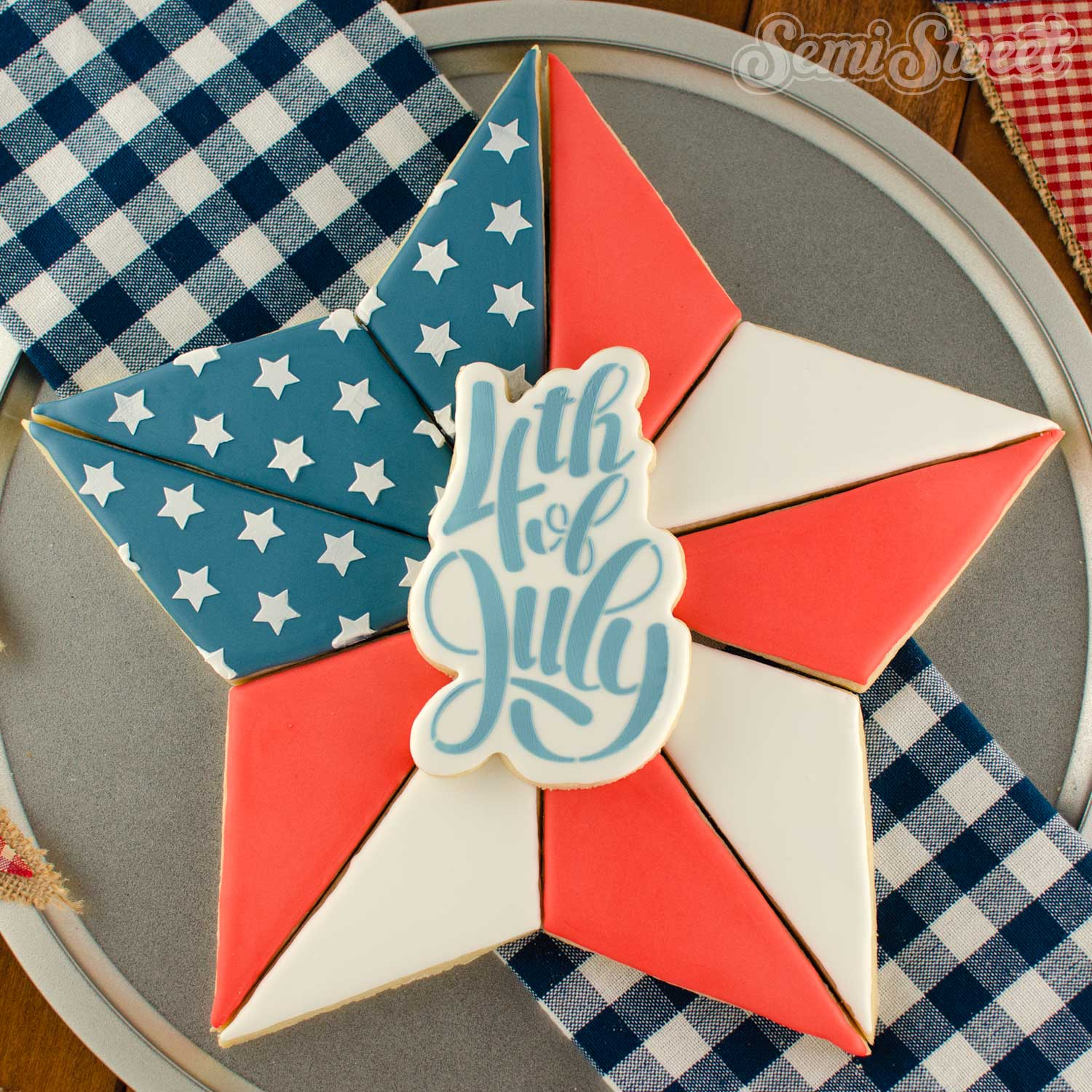 How to Make a Star Cookie Platter