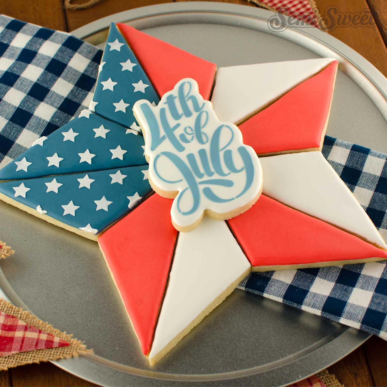 segmented star cookie platter | Semi Sweet Designs