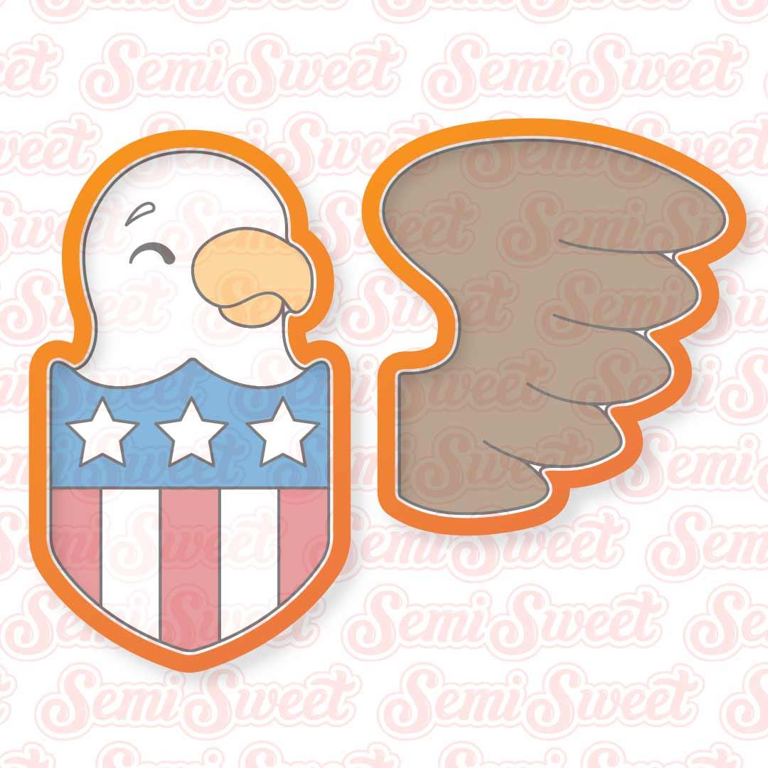 eagle shield cookie cutter set | Semi Sweet Designs