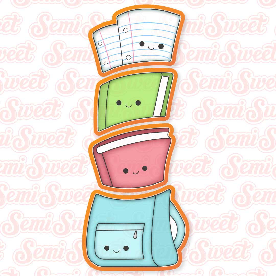 stackable backpack cookie cutter set   Semi Sweet Designs