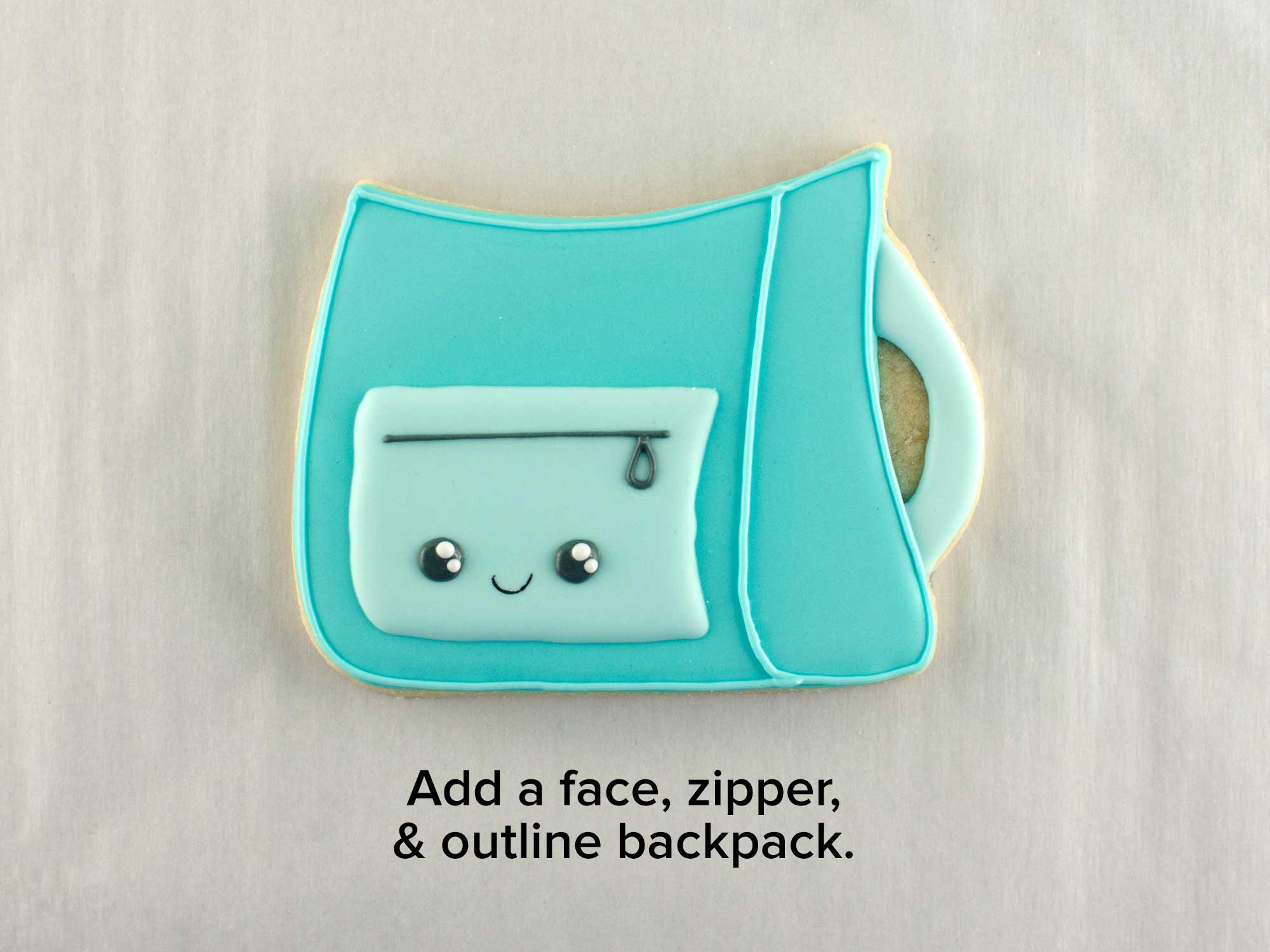 backpack cookie set step 8