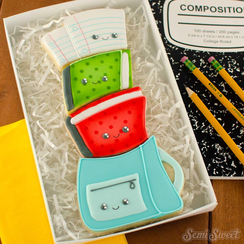 backpack cookie set   Semi Sweet Designs