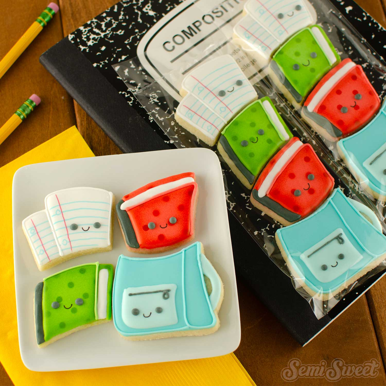 mini backpack cookie set   Semi Sweet Designs