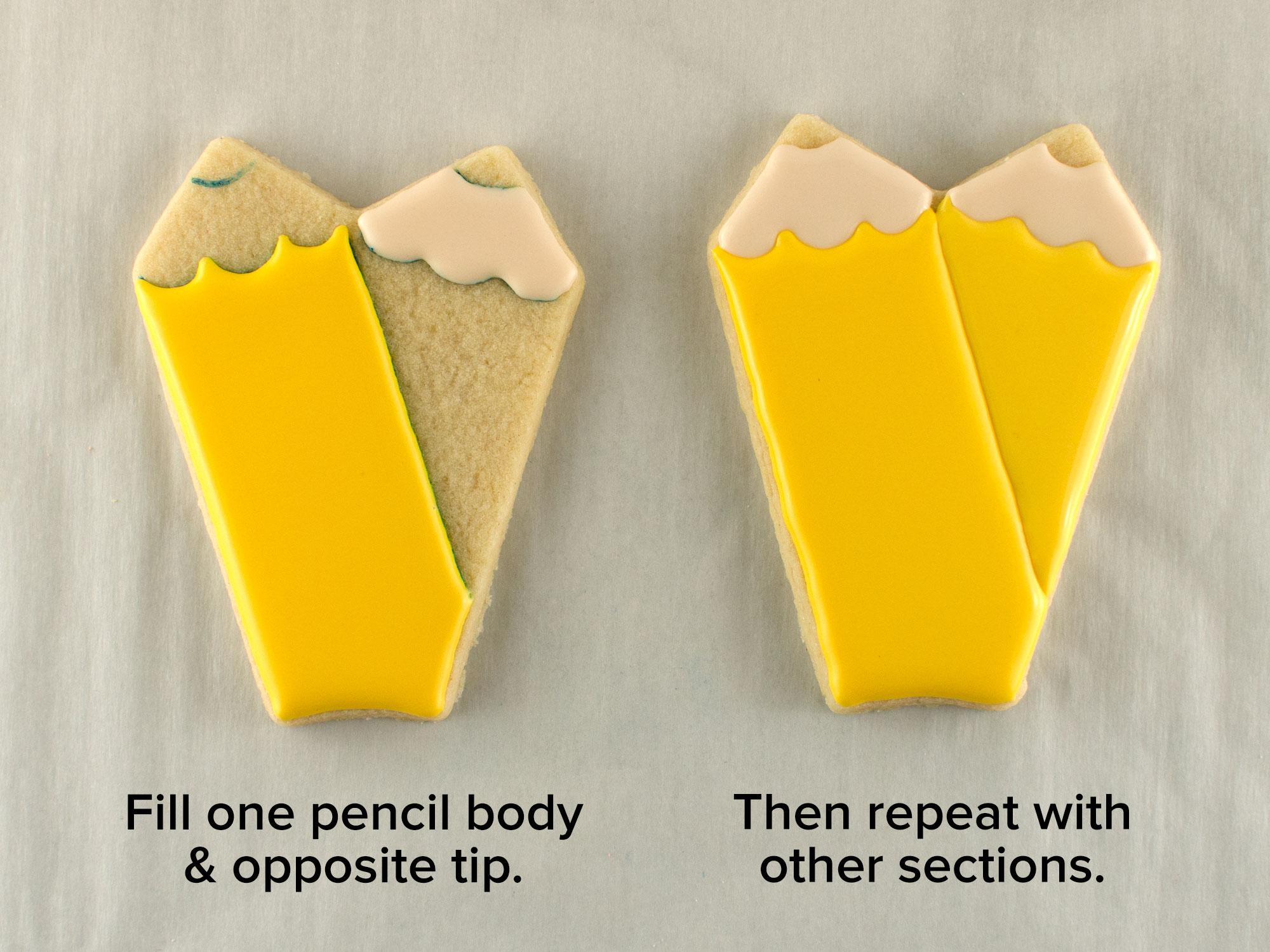 apple pencil cookie platter step 4