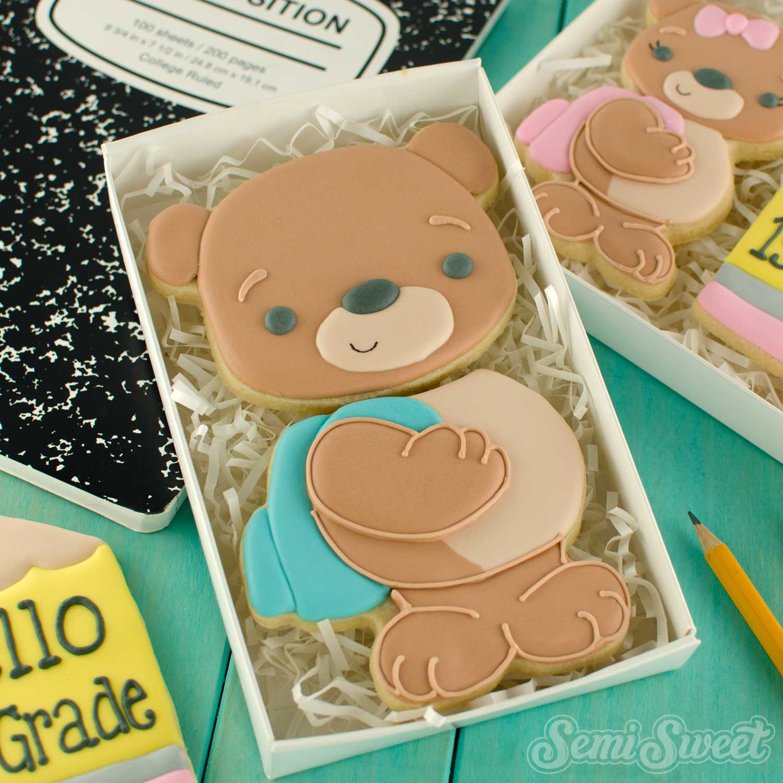 How to Make Teddy Bear Backpack Cookies
