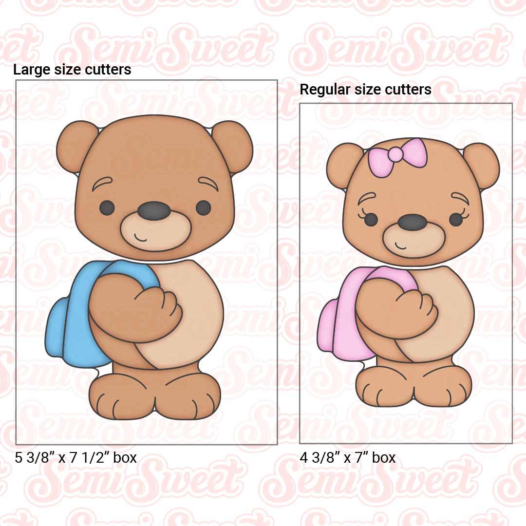 teddy bear backpack cookie set | Semi Sweet Designs