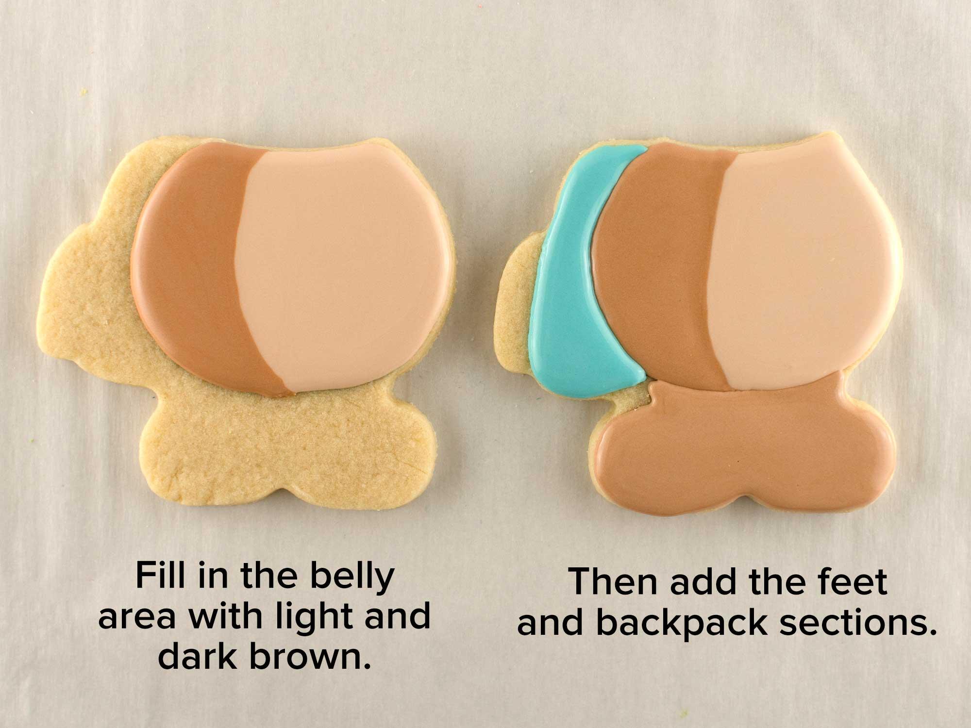 teddy bear backpack cookies step 3