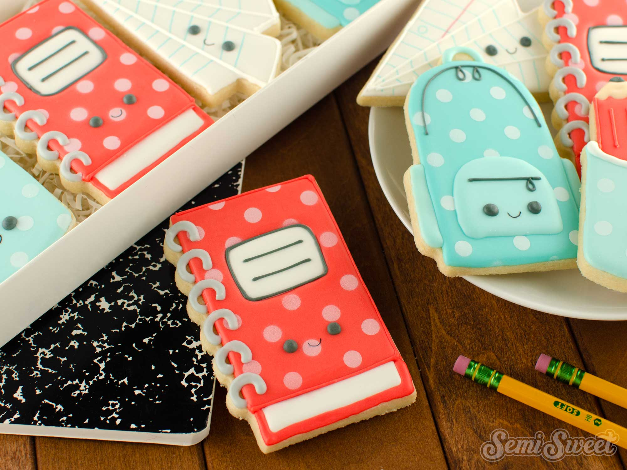 How to Make Spiral Notebook Cookies