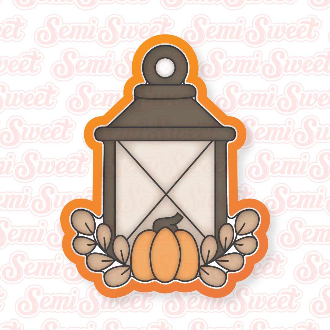 autumn lantern cookie cutter   Semi Sweet Designs