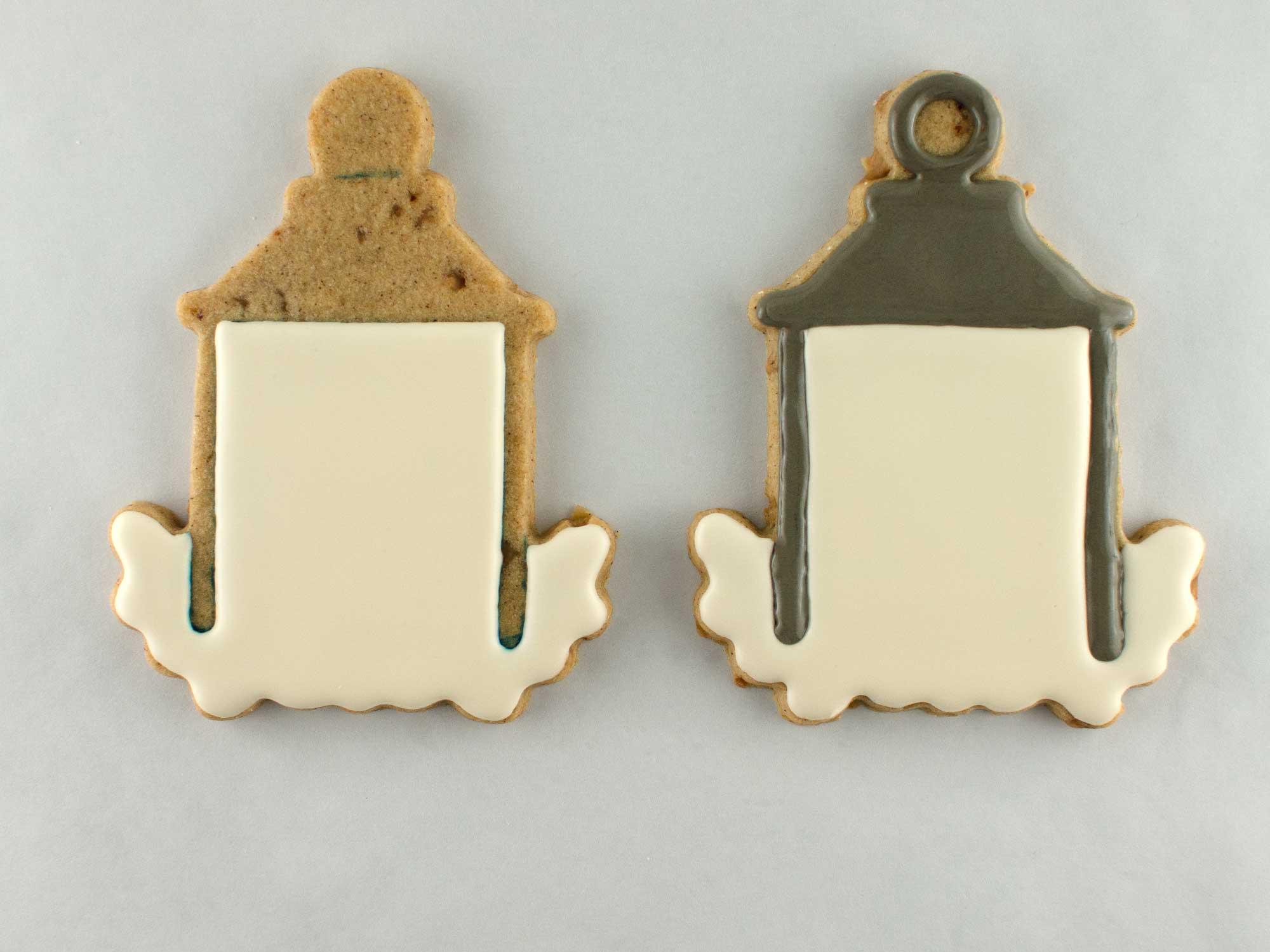 autumn lantern cookies step 1