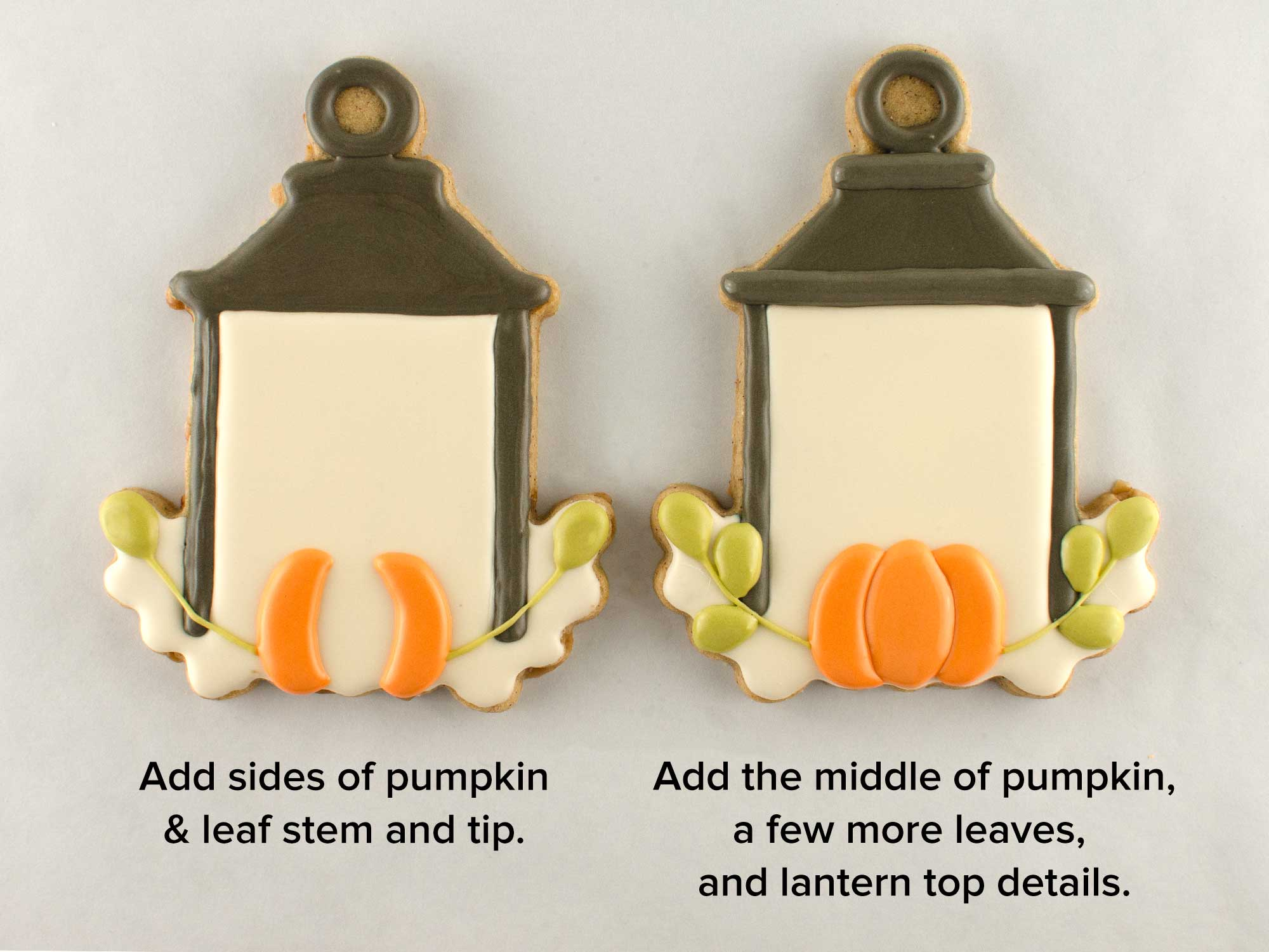 autumn lantern cookies step 2