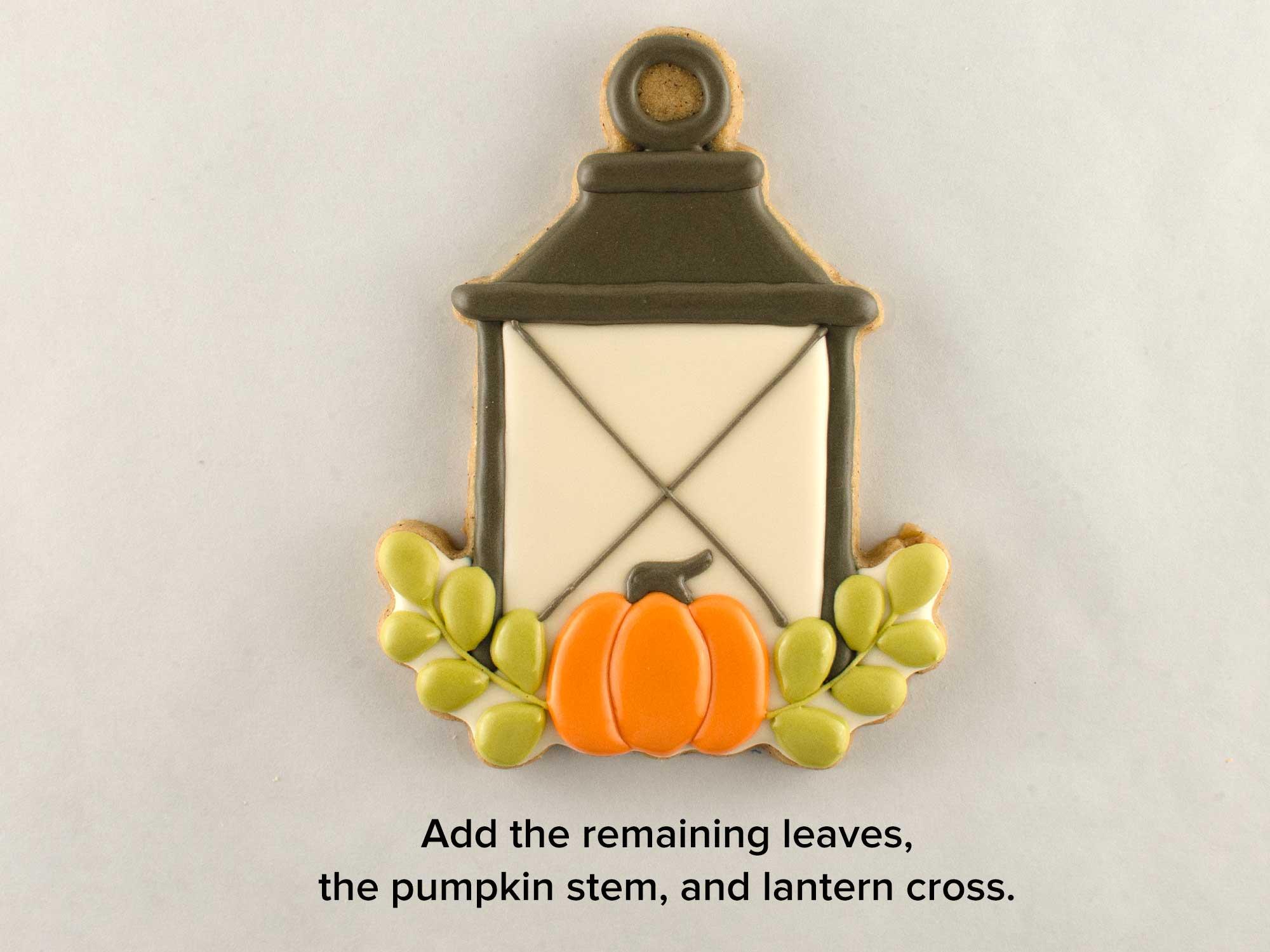 autumn lantern cookies step 3