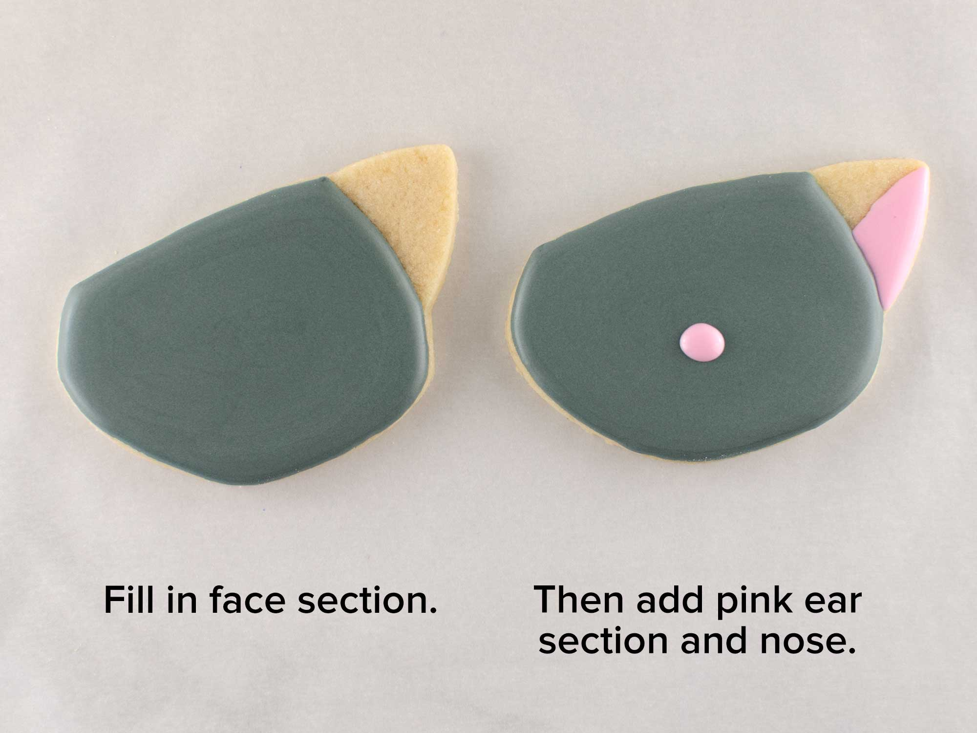 cat face cookie step 1
