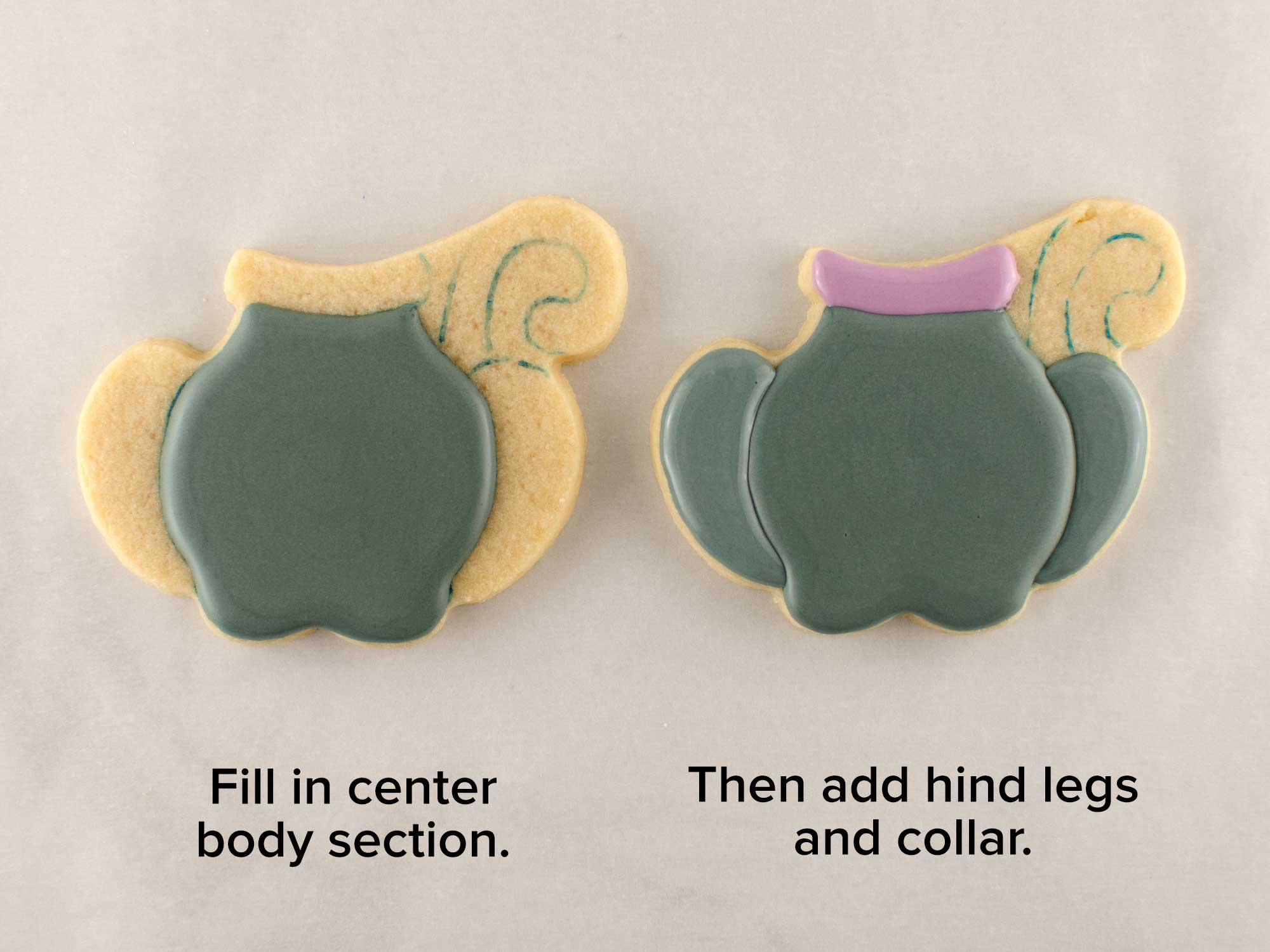cat body cookie step 1
