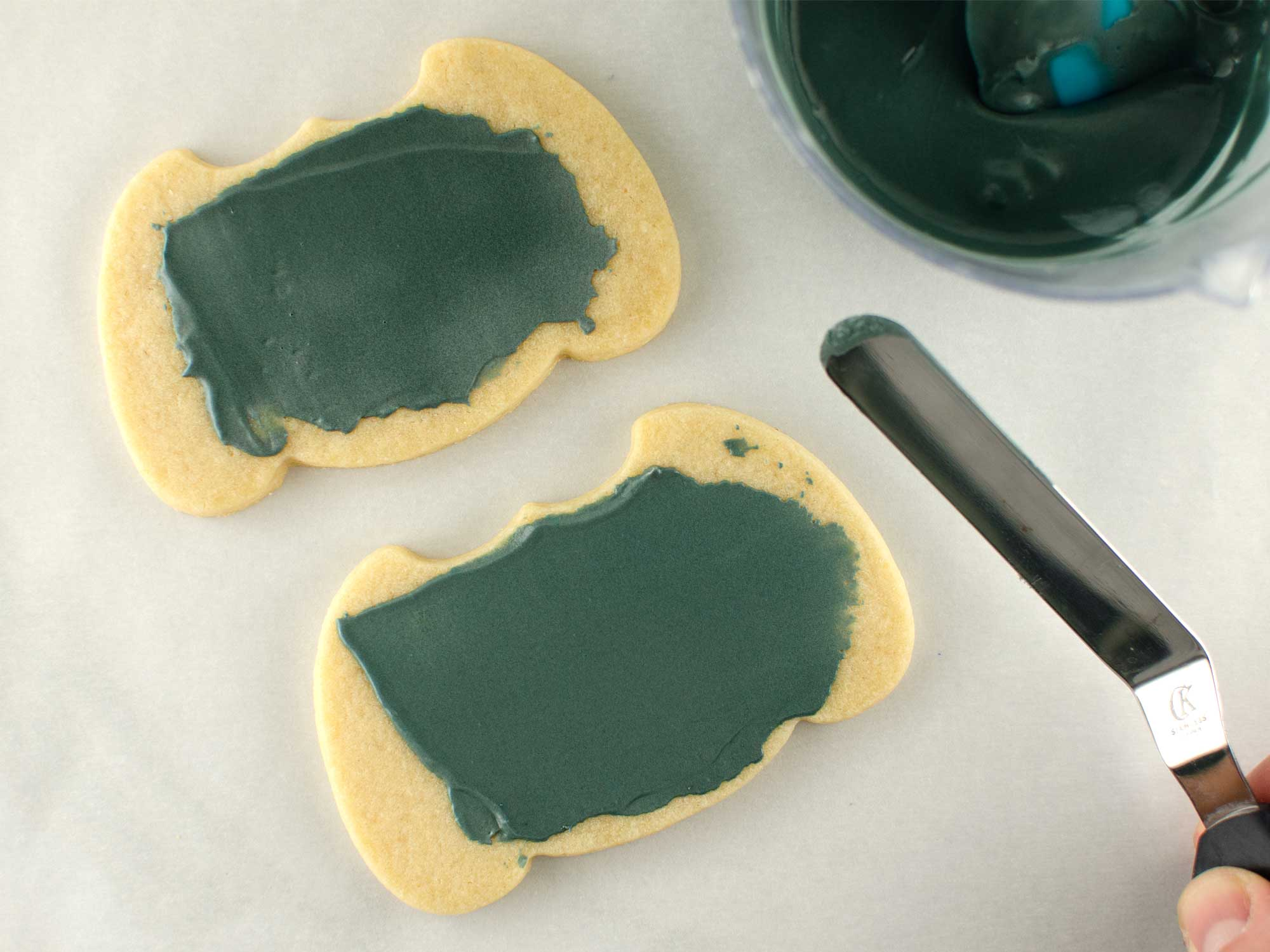 jack-o-lantern cookie step 1