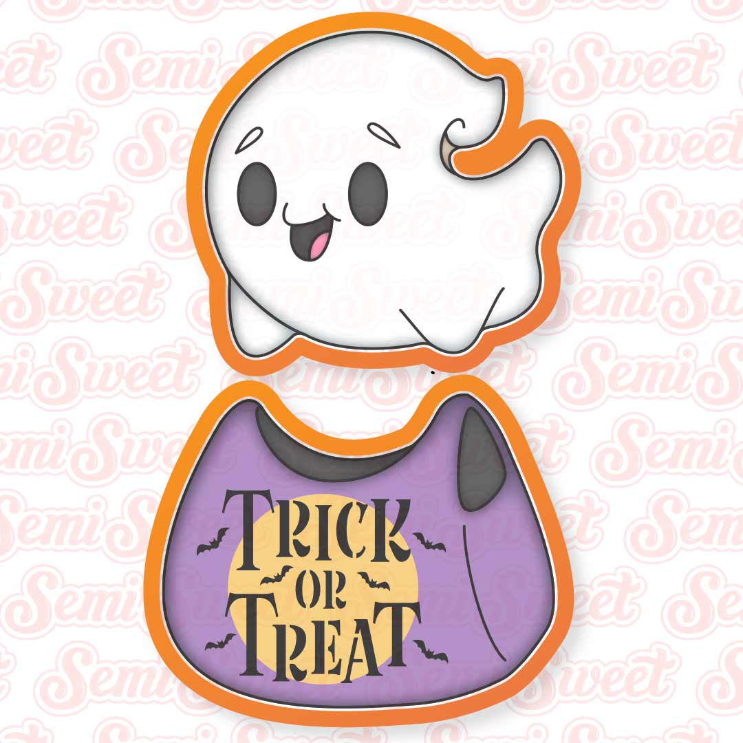 flying ghost cookie cutter set | Semi Sweet Design