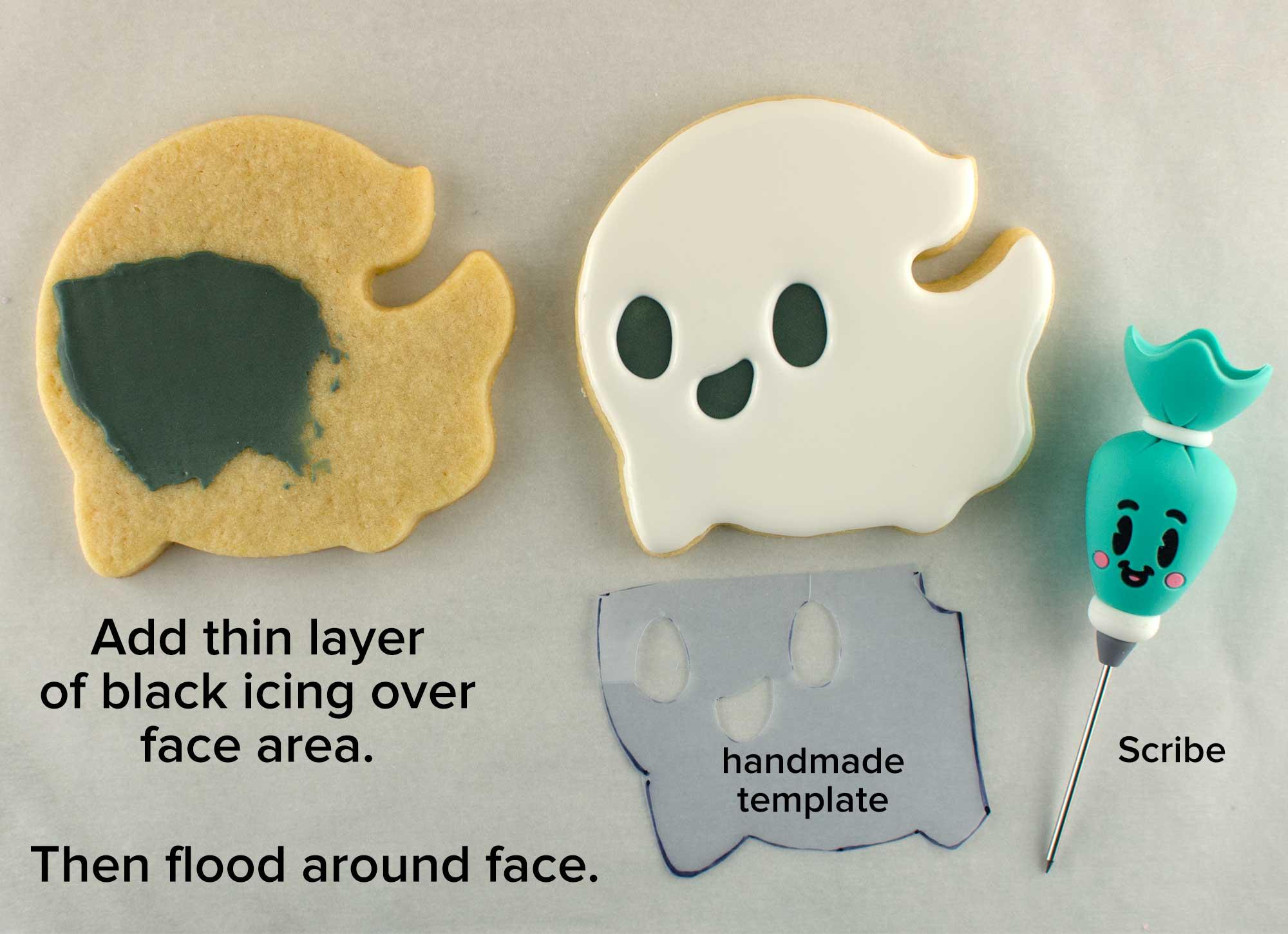 flying ghost cookie step 1