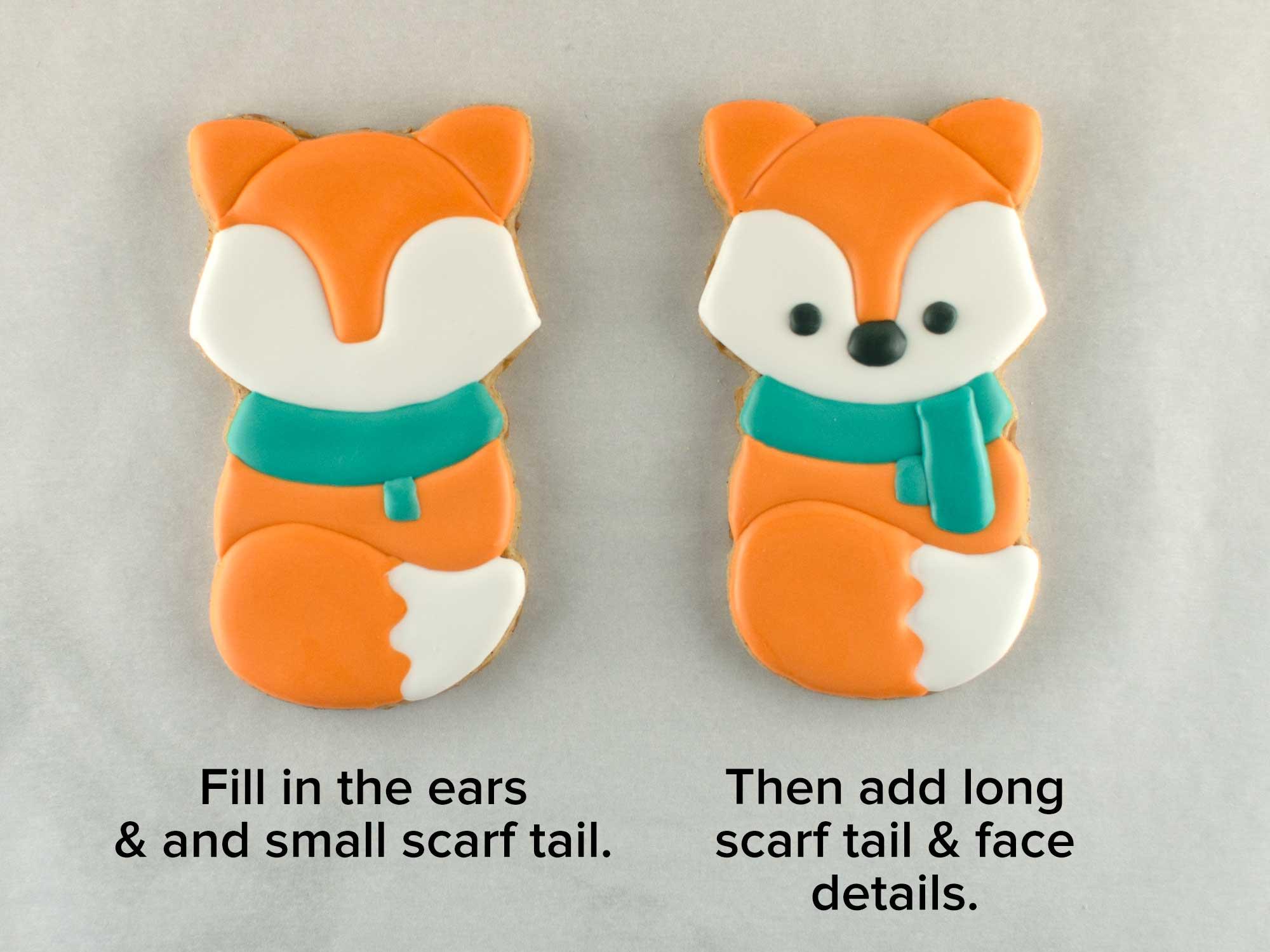 autumn fox cookies step 2
