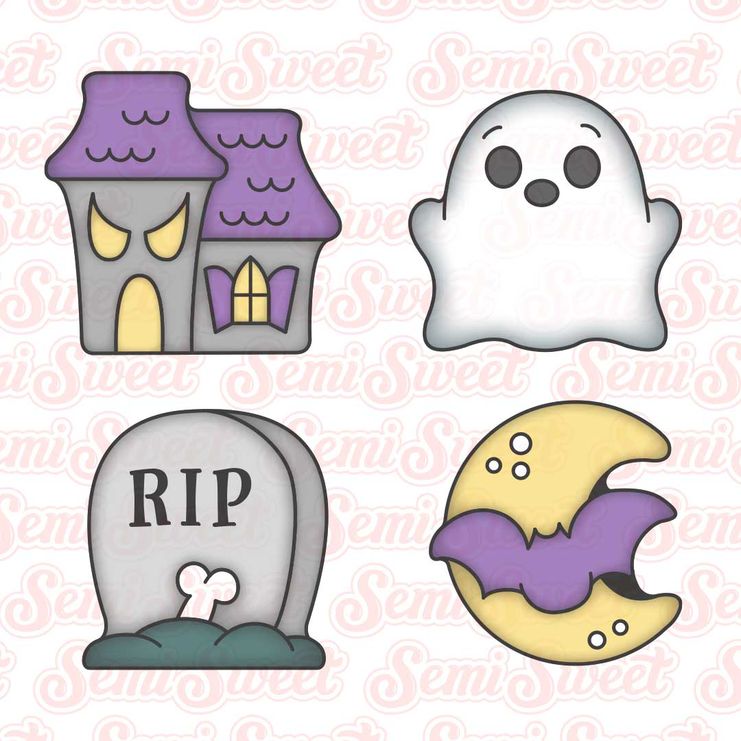 haunted house cookie cutter set | Semi Sweet Designs
