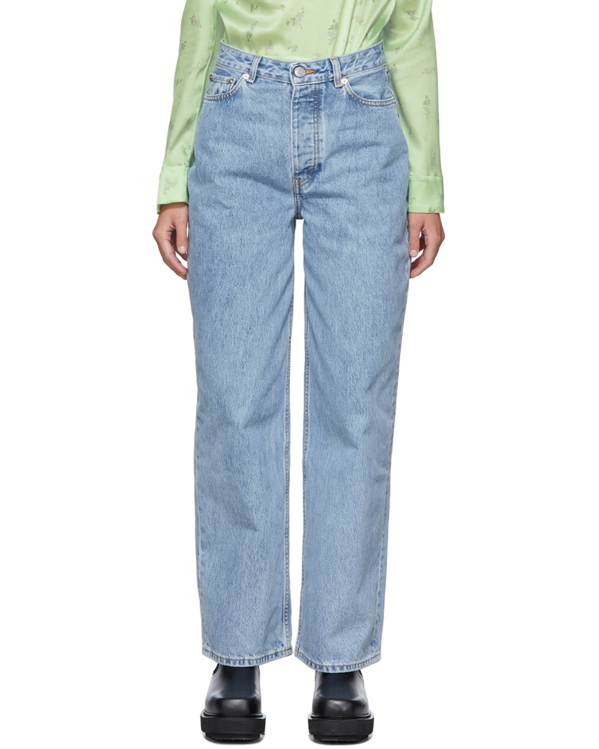 Jean à taille basse oversize