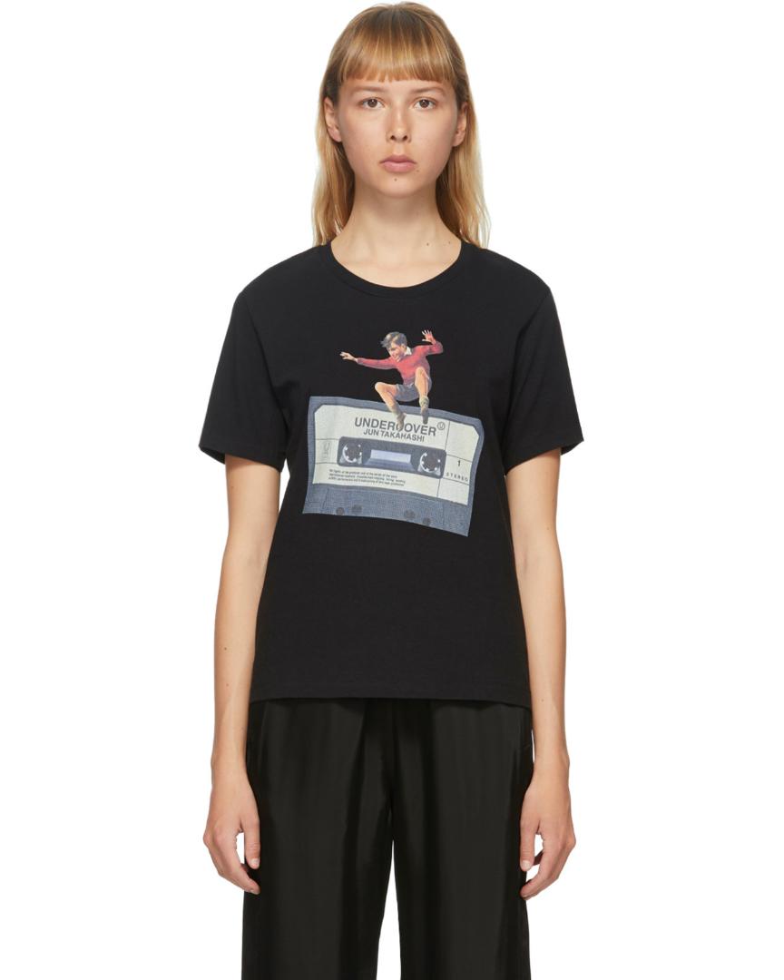 T-shirt noir Cassette