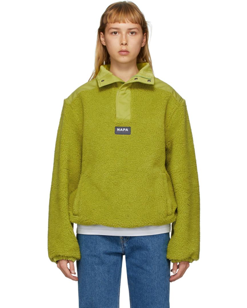 Pull à zippé en polaire vert T-Crantock