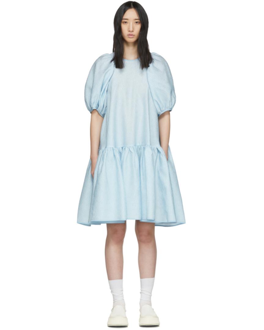 Robe en soie bleue Alexa