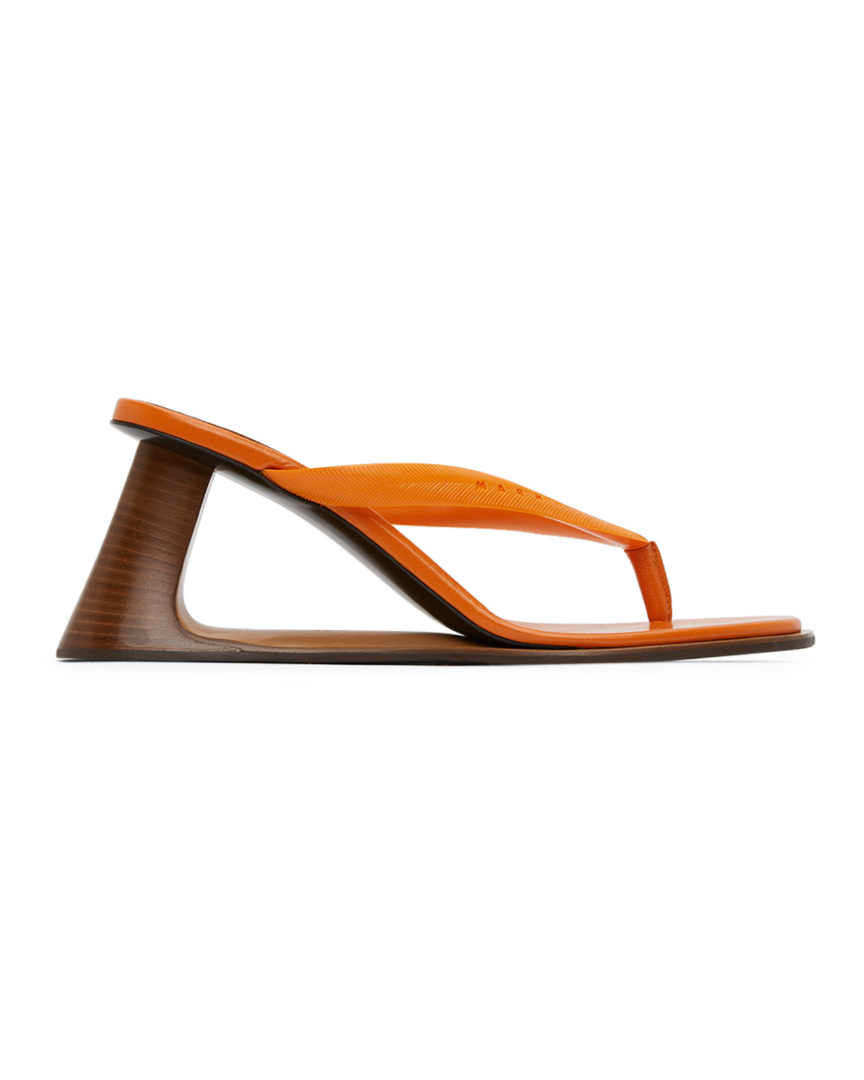Sandales orange Open Heeled Thong