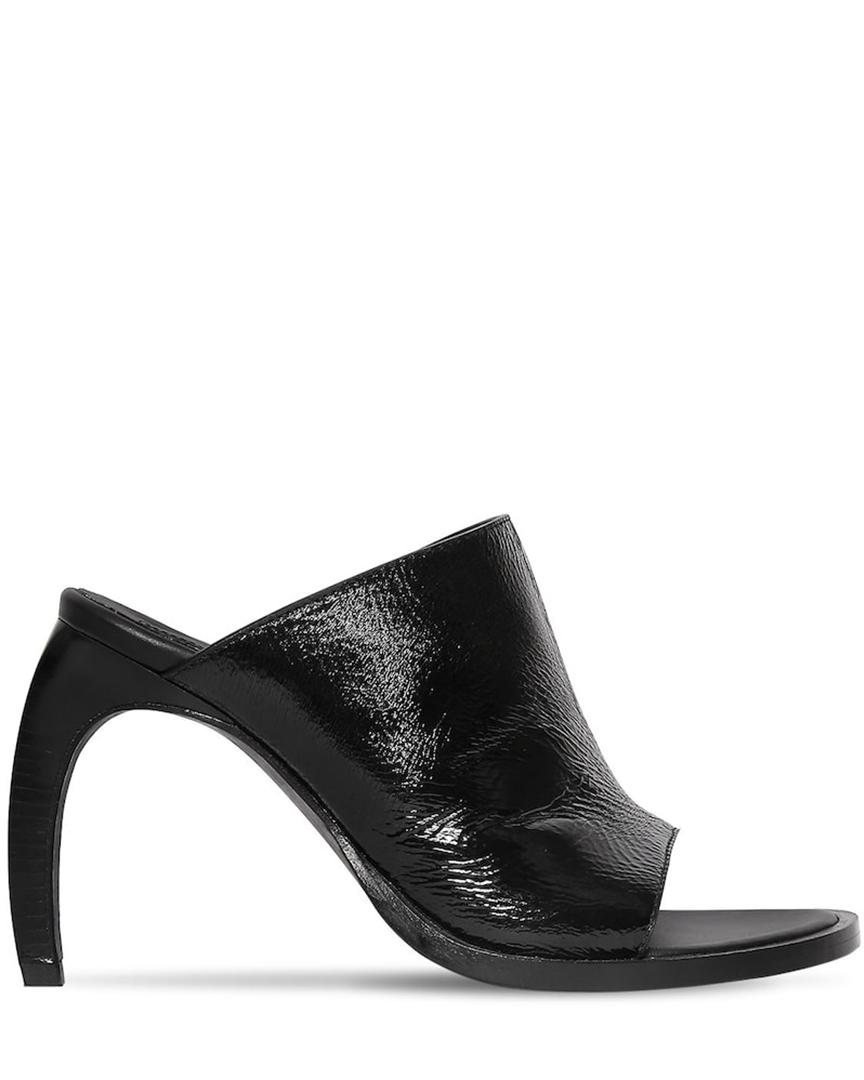 Sandales en cuir verni 100 MM