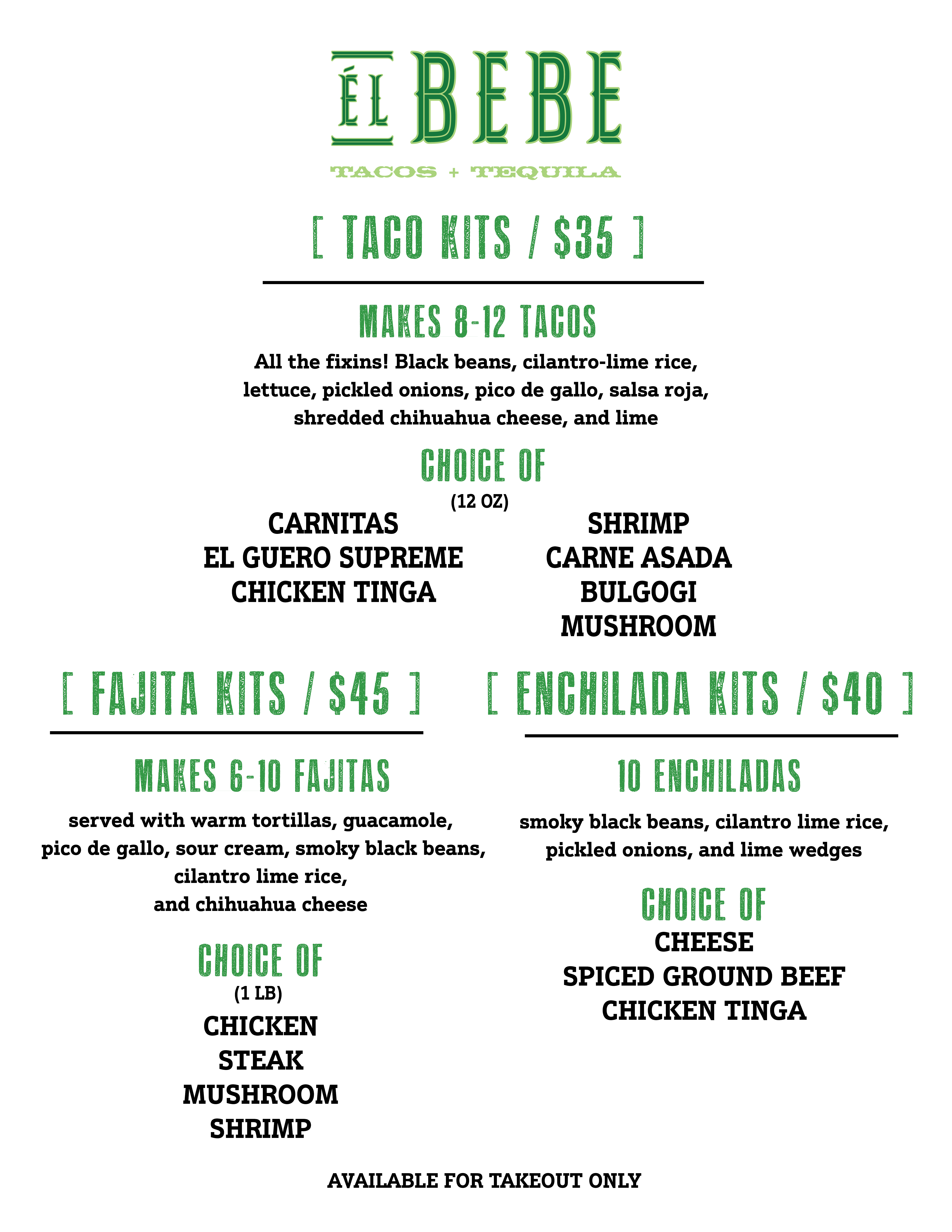 Takeout Specials