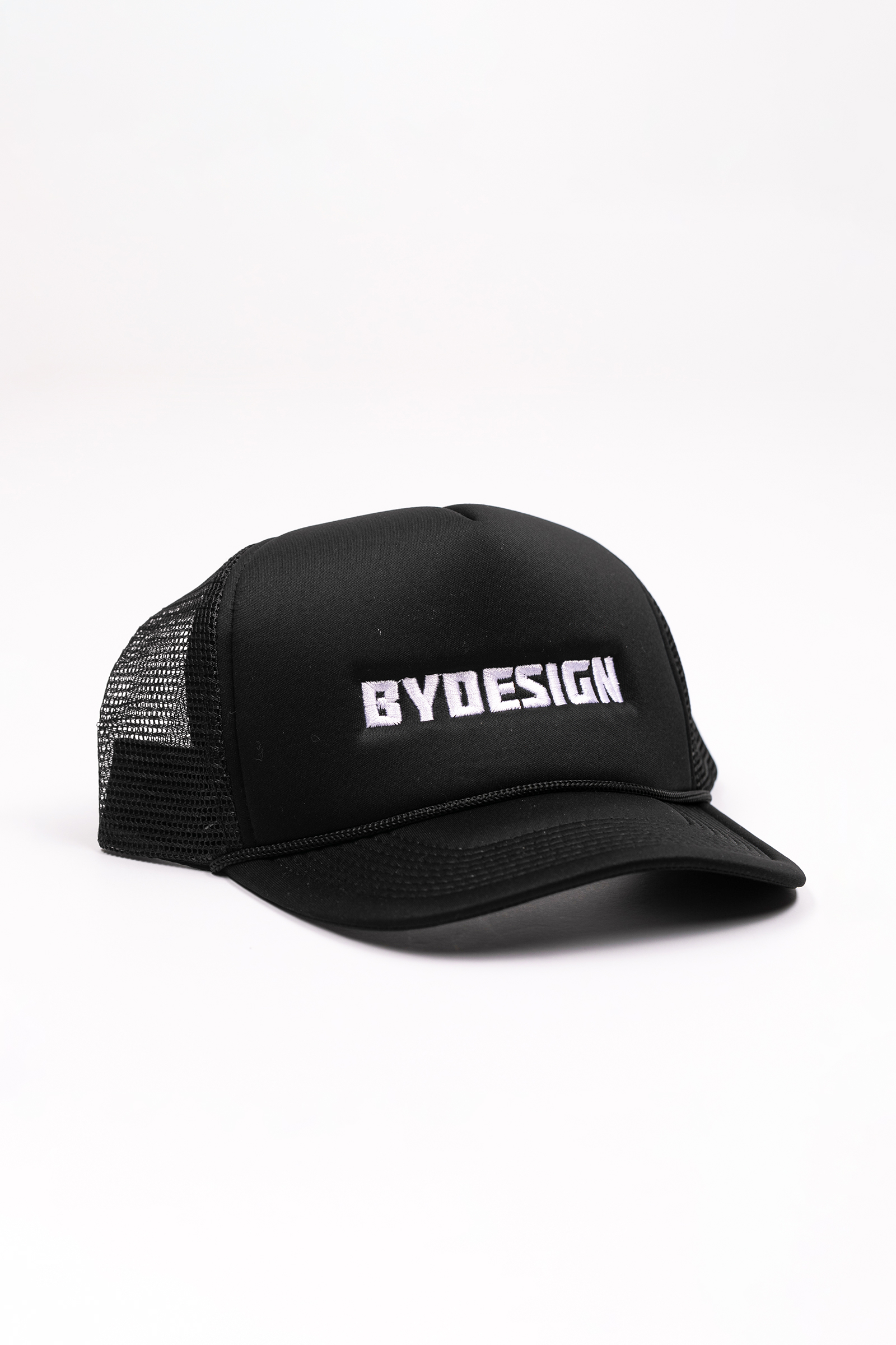 By Design Logo Trucker Hat - Black
