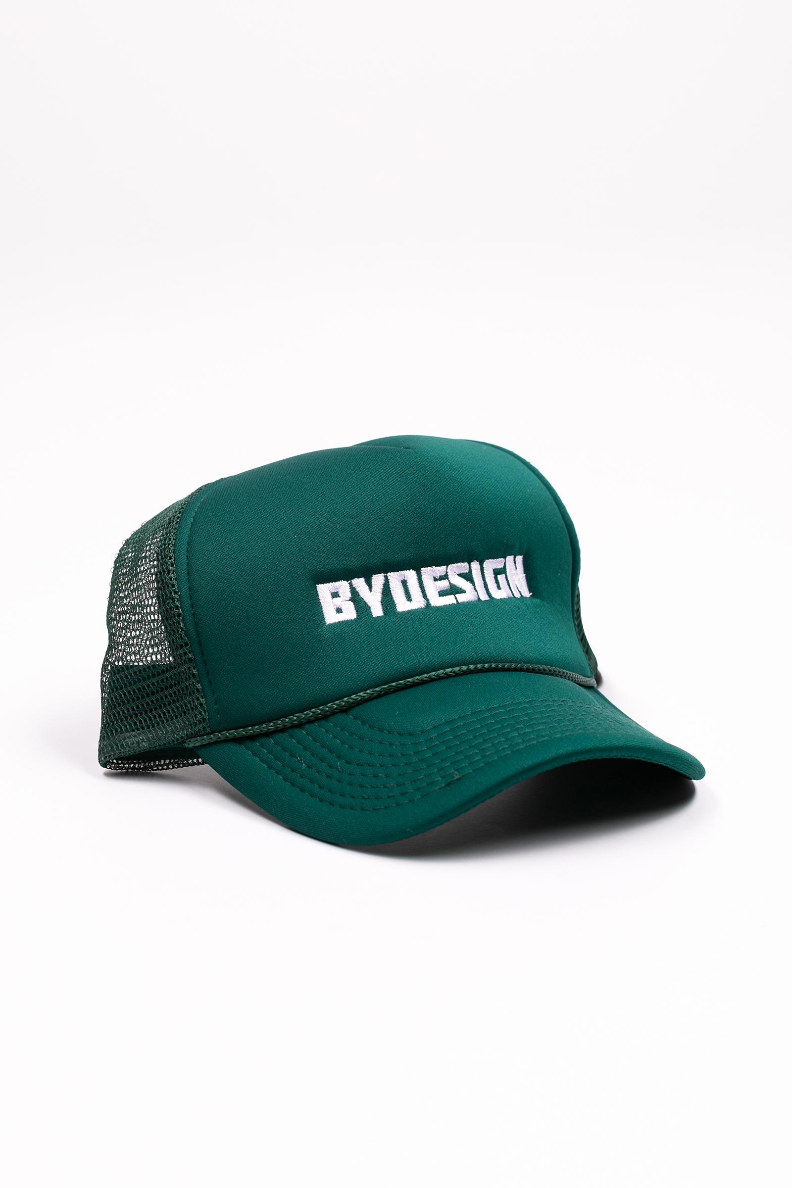 By Design Logo Trucker Hat - Green