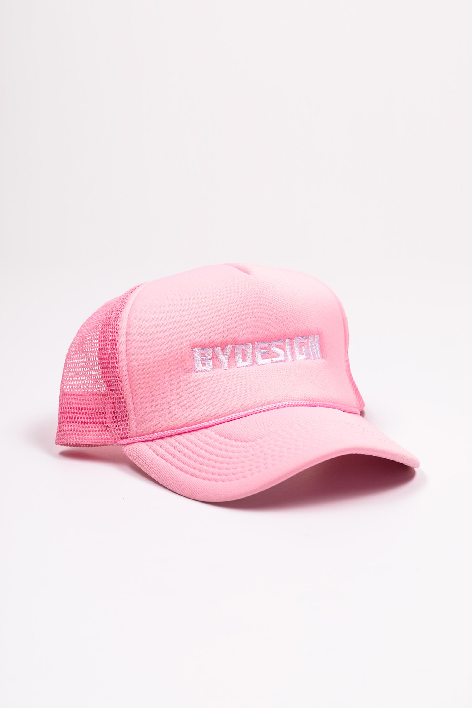 By Design Logo Trucker Hat - Pink