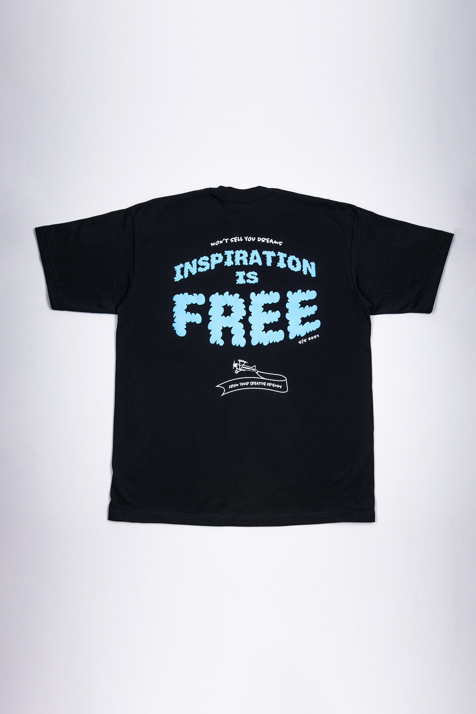 The Inspiration is Free Tee - Navy