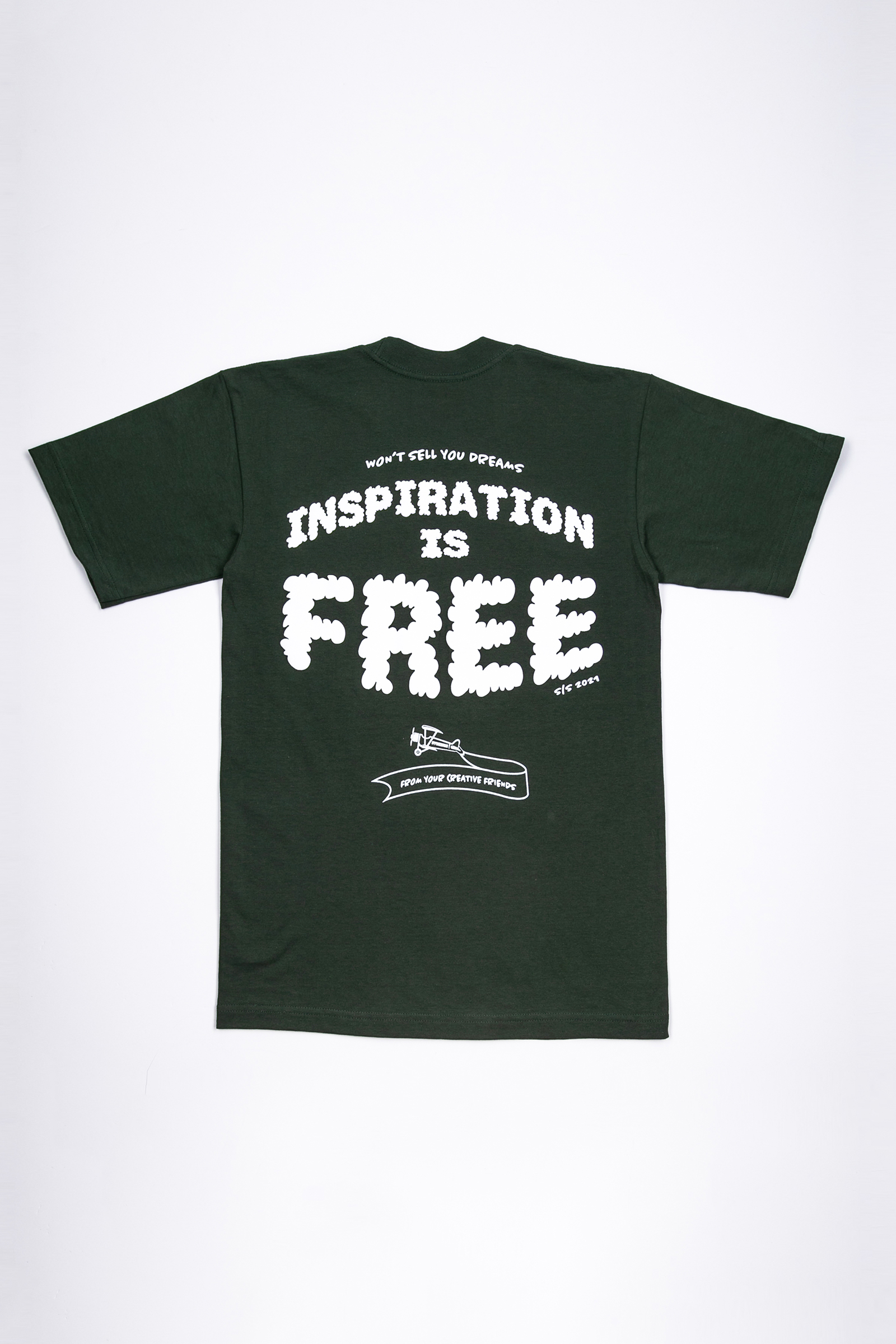 The Inspiration is Free Tee - Green