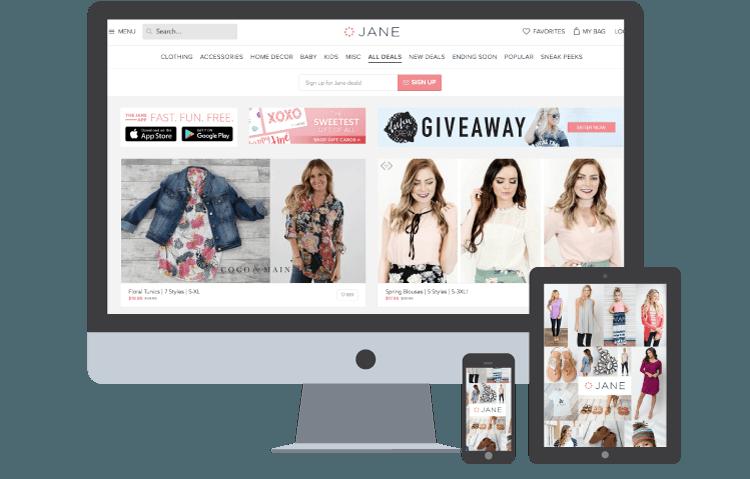 Jane.com Site with SmartShyp