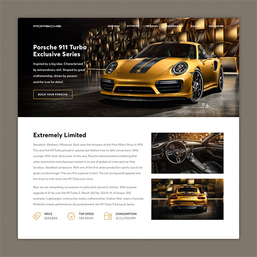 Project preview of landing page redesign