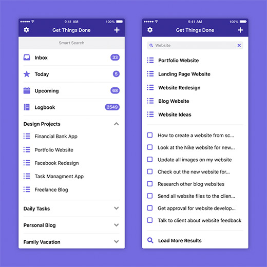 Project preview of Get Things Done